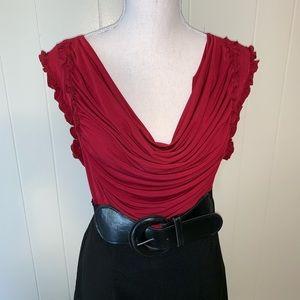 Maurice's Red/Black work dress with belt-Sz 13 /14